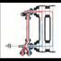 Robinet monotube 4 voies alésage 18 entraxe 50 mm