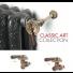 Kit complet robinetterie radiateur Rétro Classic Art MF 1/2