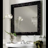 Miroir rétro cadre bois 100 X 100 cm